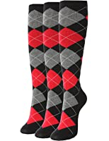 OSABASA Womens Casual Knee High Socks 3Pairs 1 Set with Cute Colorful Pattern