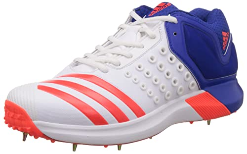 993b9362533 adidas Adipower Vector Mid Mens Cricket Bowling Spike Trainer White - UK 7
