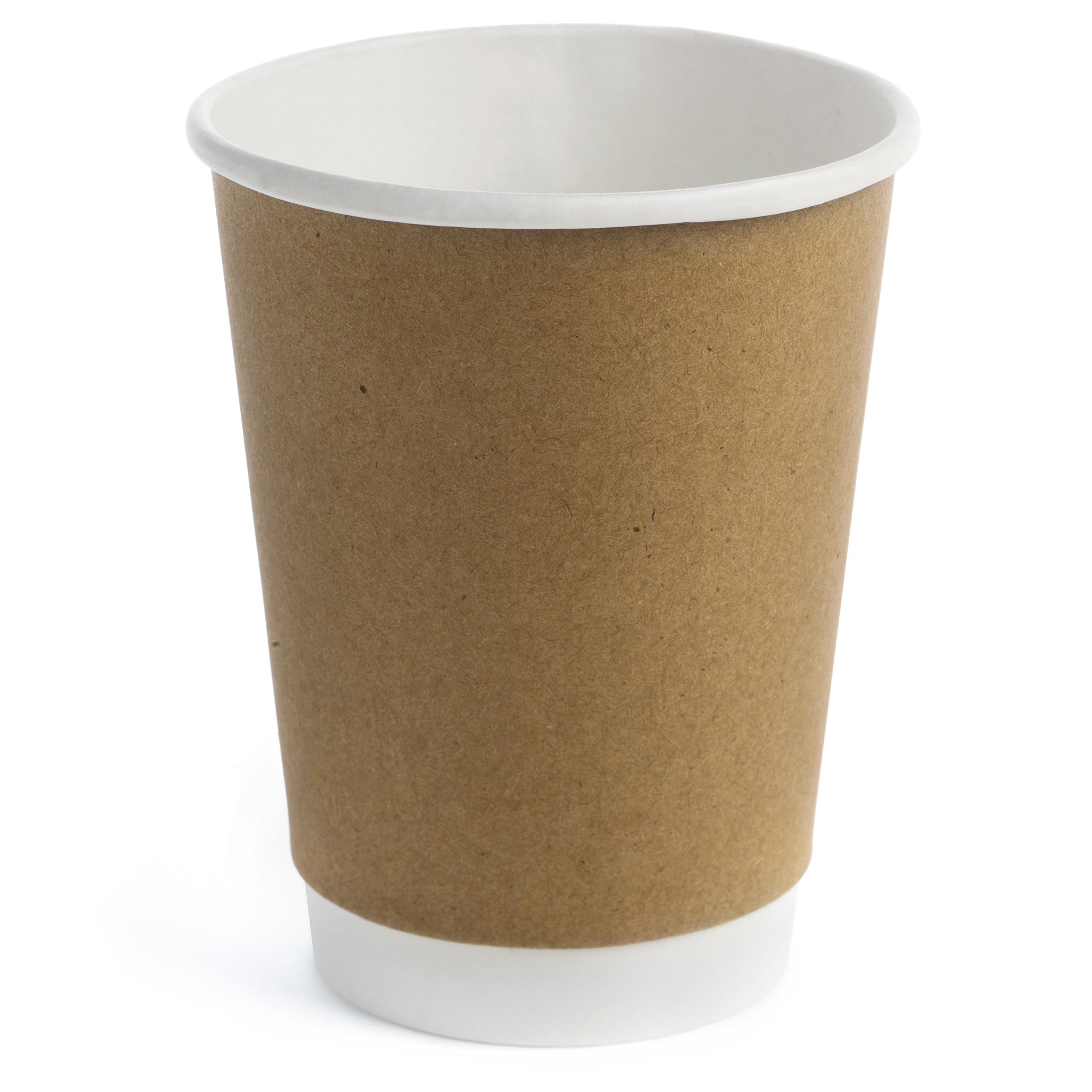 Earth's Natural Alternative 50 Count ECCUP12 double Wall Kraft Paper Cup, 12 oz, White