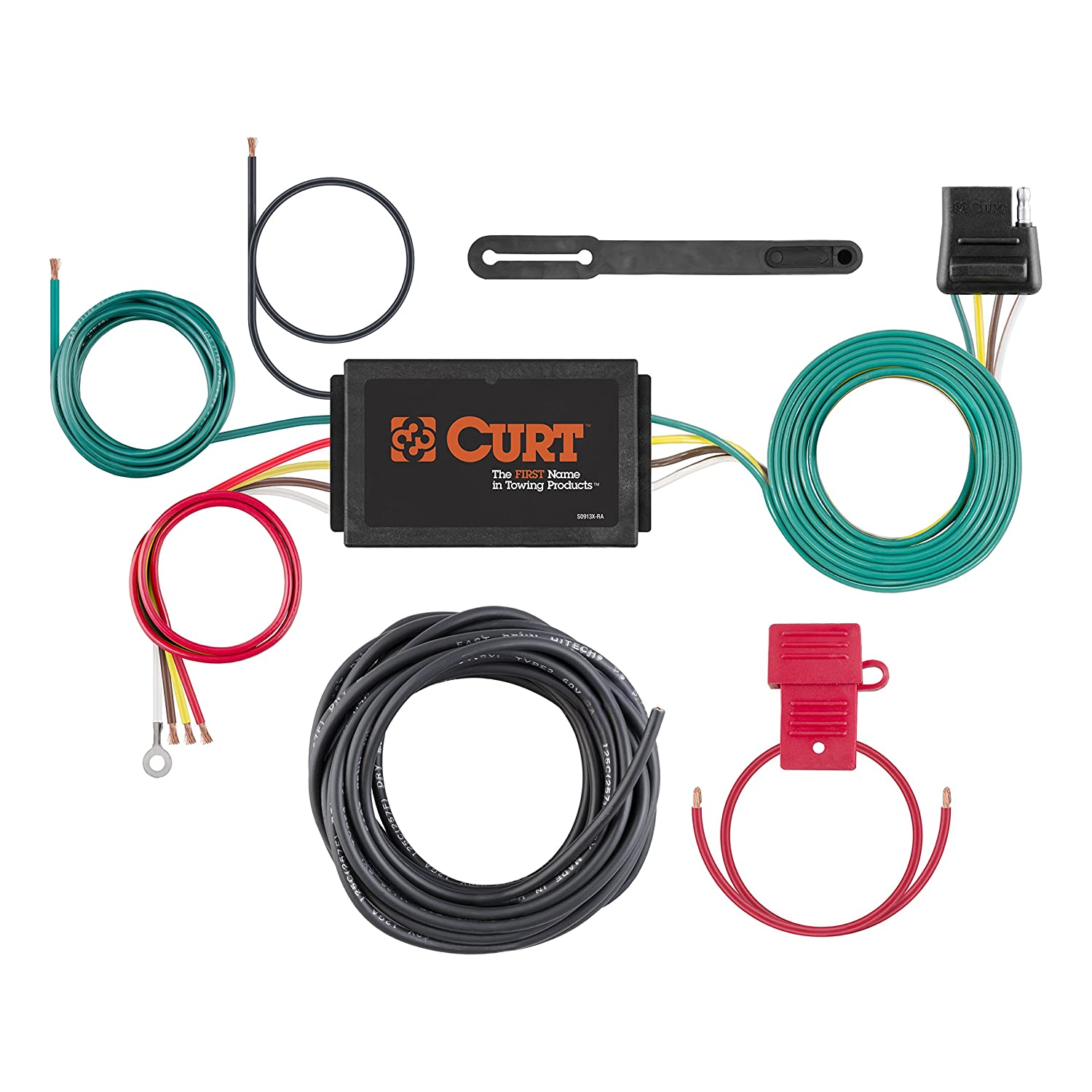 Curt Manufacturing 59146 Powered 3 To 2 Wire Wiring Harness Taillight Converter Automotive