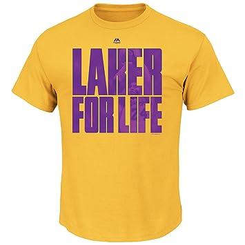 Mens NBA Los Angeles Lakers Laker para vida Kobe Bryant final temporada camiseta de manga corta cuello redondo, S, Amarillo dorado: Amazon.es: Deportes y ...