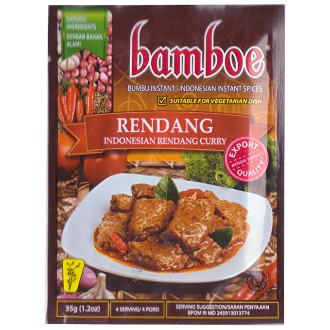 Bamboe Bumbu Rendang (Indonesia especias instantáneos Rendang Curry), 35 de Gram (3