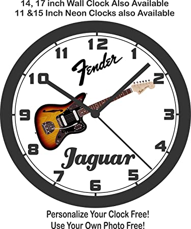 amazon fender jaguar guitar wall clock free usa ship home Chevy Chevelle fender jaguar guitar wall clock free usa ship