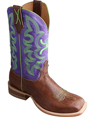 5e5f5488890 Twisted X Women's Hooey Purple Cowgirl Boot Square Toe