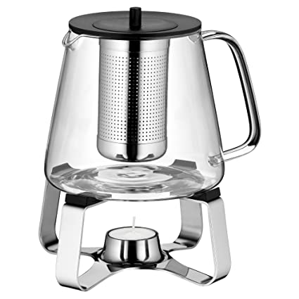 WMF 0636306040 TeaTime - Juego de té (2 piezas: tetera y calentador de vela