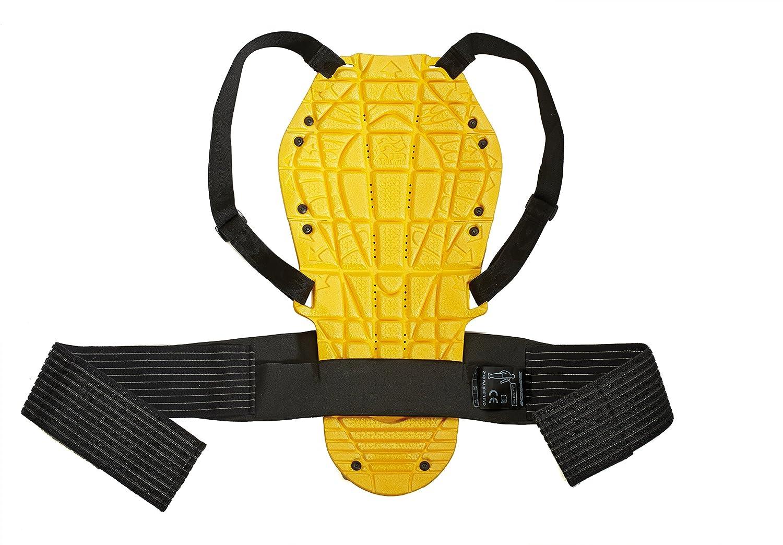 Large Spidi Z140-016 Motorcycle Safety Protection Back Warrior Evo Black//Yellow