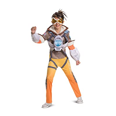 Overwatch Deluxe Tracer Costume for Kids: Toys & Games