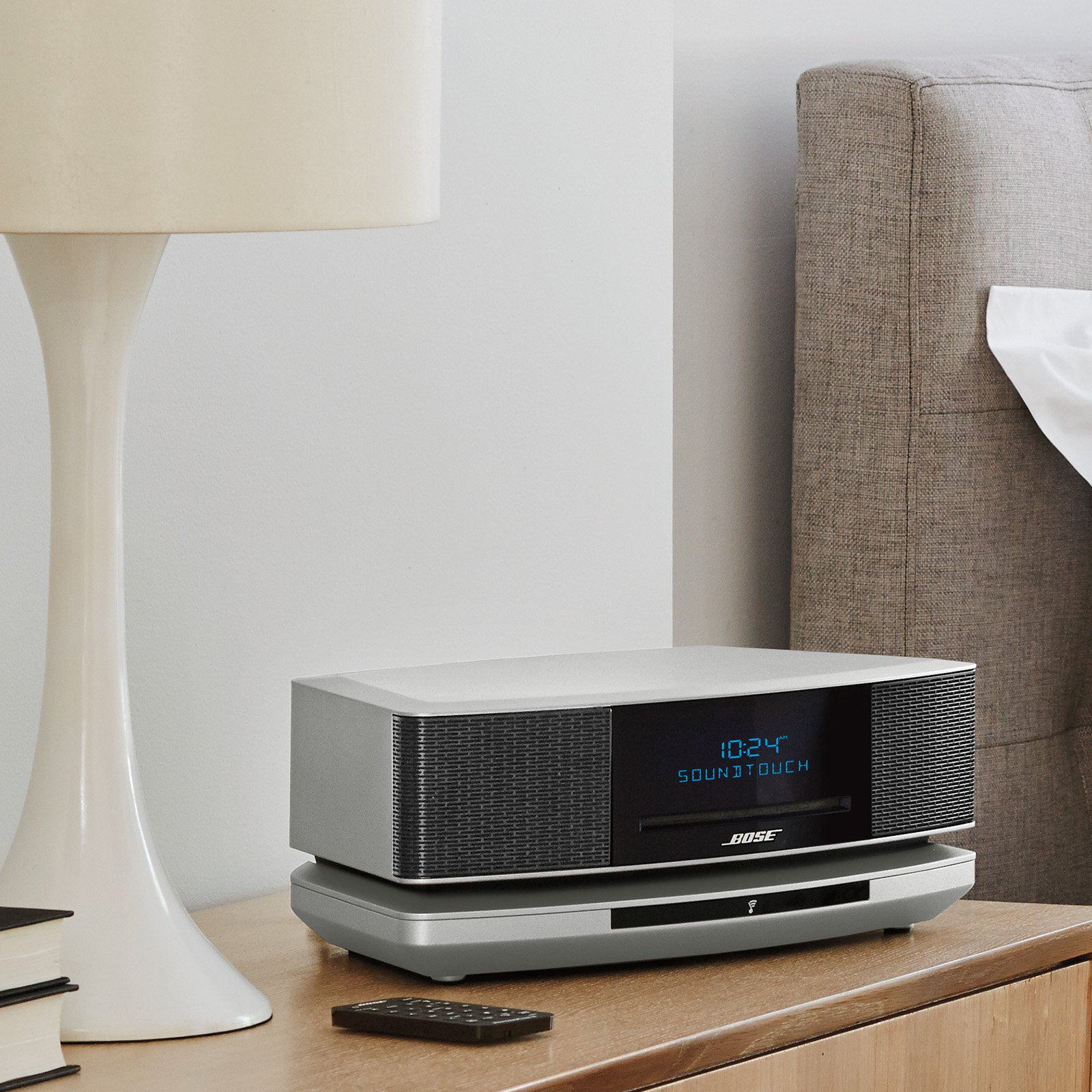 bose wave soundtouch music system iv works with alexa platinum silver amazon. Black Bedroom Furniture Sets. Home Design Ideas
