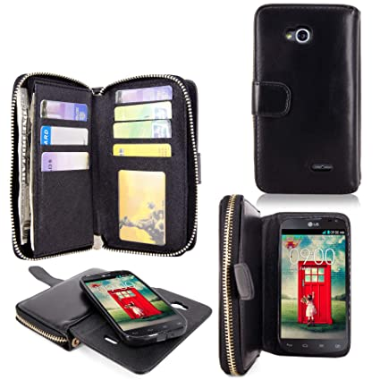 quality design 5da05 499be LG L90 Case - Cellularvilla Pu Leather Wallet Flip Bag Pouch Card Slots  Holder Pockets & Other Stuff with Magnetic Detachable back Case Cover for  LG ...
