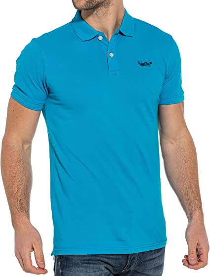 Petrol Industries - Polo Homme Bleu Turquoise