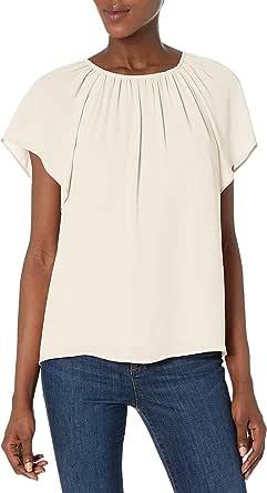 Marca Amazon - Lark & Ro Lark & Ro Easy Flutter Slv Parte Superior Para Mujer - dresses Mujer