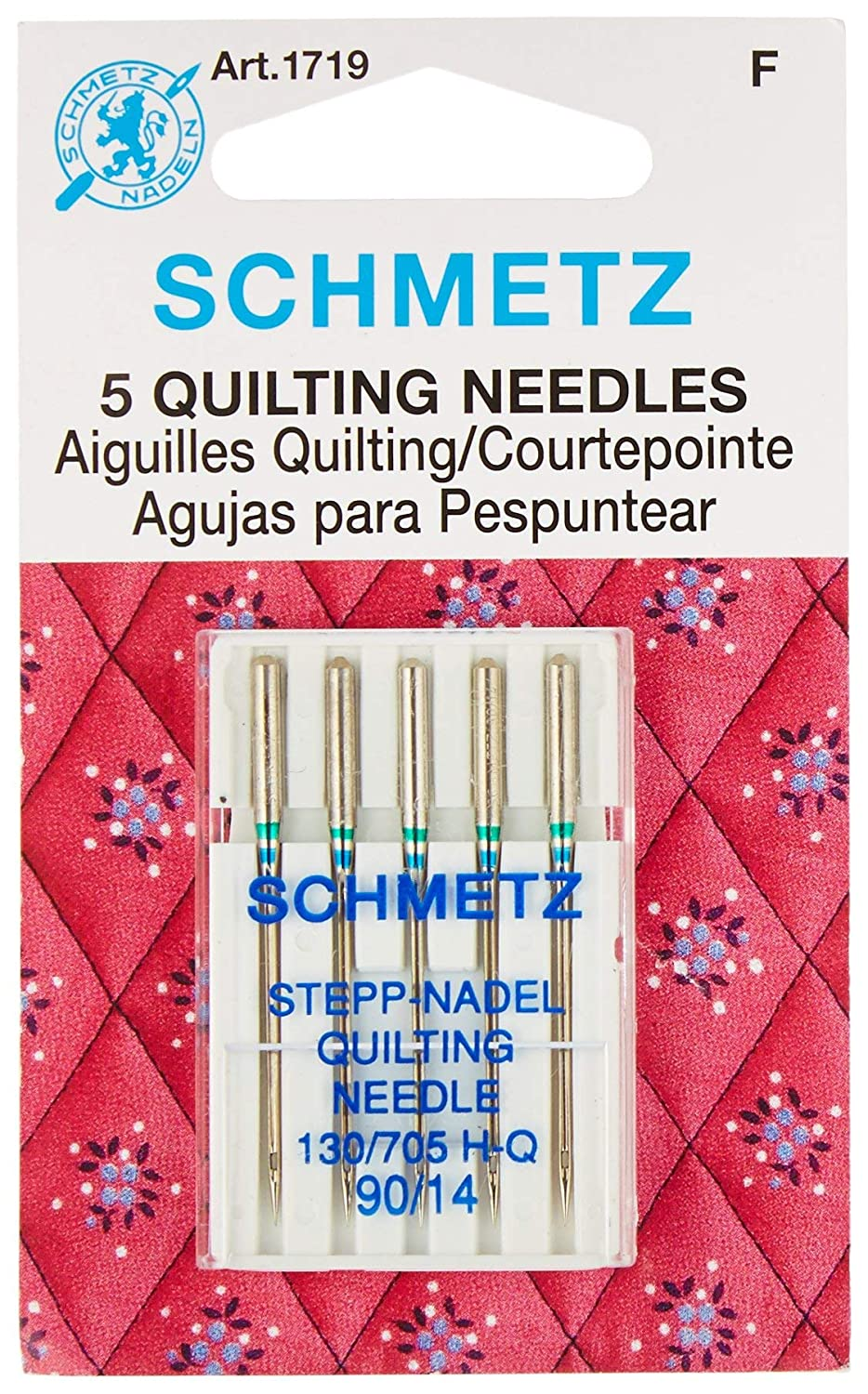 Euro-Notions 71834 Quilt Machine Needles-Size 14//90 5//Pkg