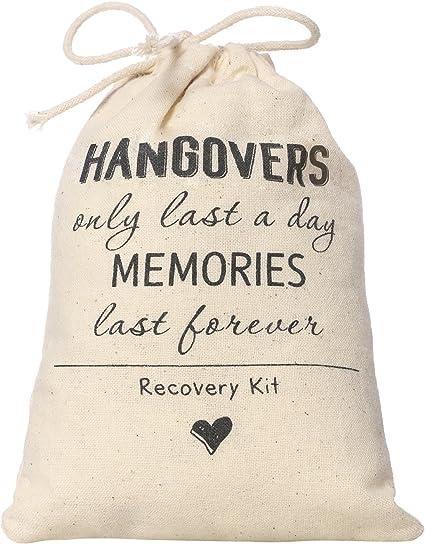Whaline 20 Packs Bachelorette Hangover Kit sacs coton Recovery Kit Sacs Sac De Kit