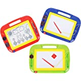 Play Kreative Magnetic Drawing Board - Kids Magna Doodle Erasable Writing Sketch Board - Learning Toys for Children's - Gift for Girls Boy Kids Children Travel Size - (Assorted Colors)