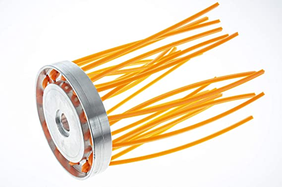 Bazargiusto SPAL 24 - Cabezal cepillo para desbrozadora de 24 hilos, para limpieza de suelos y cuerpos: Amazon.es: Electrónica