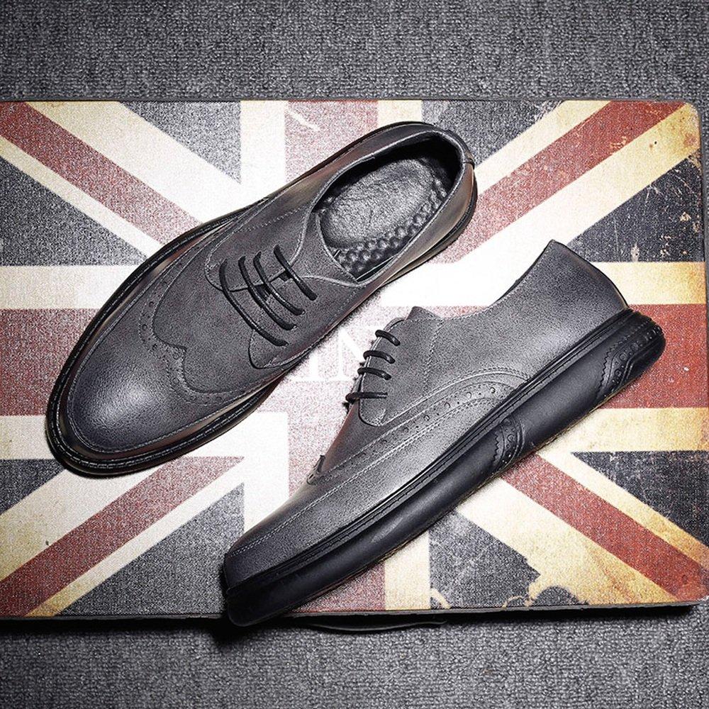 Xujw-schuhe, 2018 Schuhe Schuhe herren, Herren PU-Leder Schuhe 2018 Lace Up Loafers Classic geschnitzt Design Outsole Oxfords (Farbe : Braun, Größe : 40 EU) Gray 2d71df