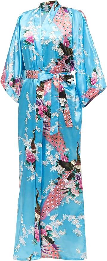 Kimono robe honeymoon bridesmaid boho resort wear bride handmade travel birthday gift maternity Hawaiian print anniversary gift