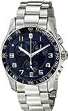 Victorinox Men's 241497 Chrono Classic Analog-Display Swiss Quartz Silver-Tone Watch