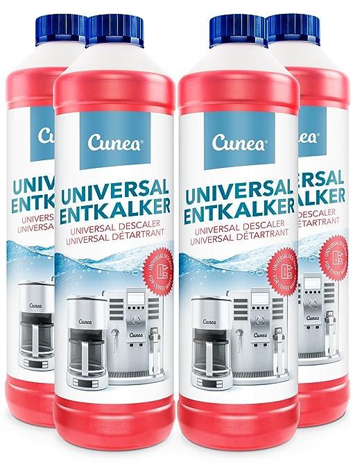 Descalcificador Cunea para máquinas de café, cafeteras y hervidores de agua universales 4x 750ml