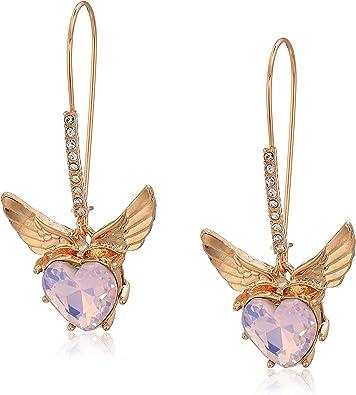Womens Bow Stud Earrings Set Purple GBG One Size Betsey Johnson