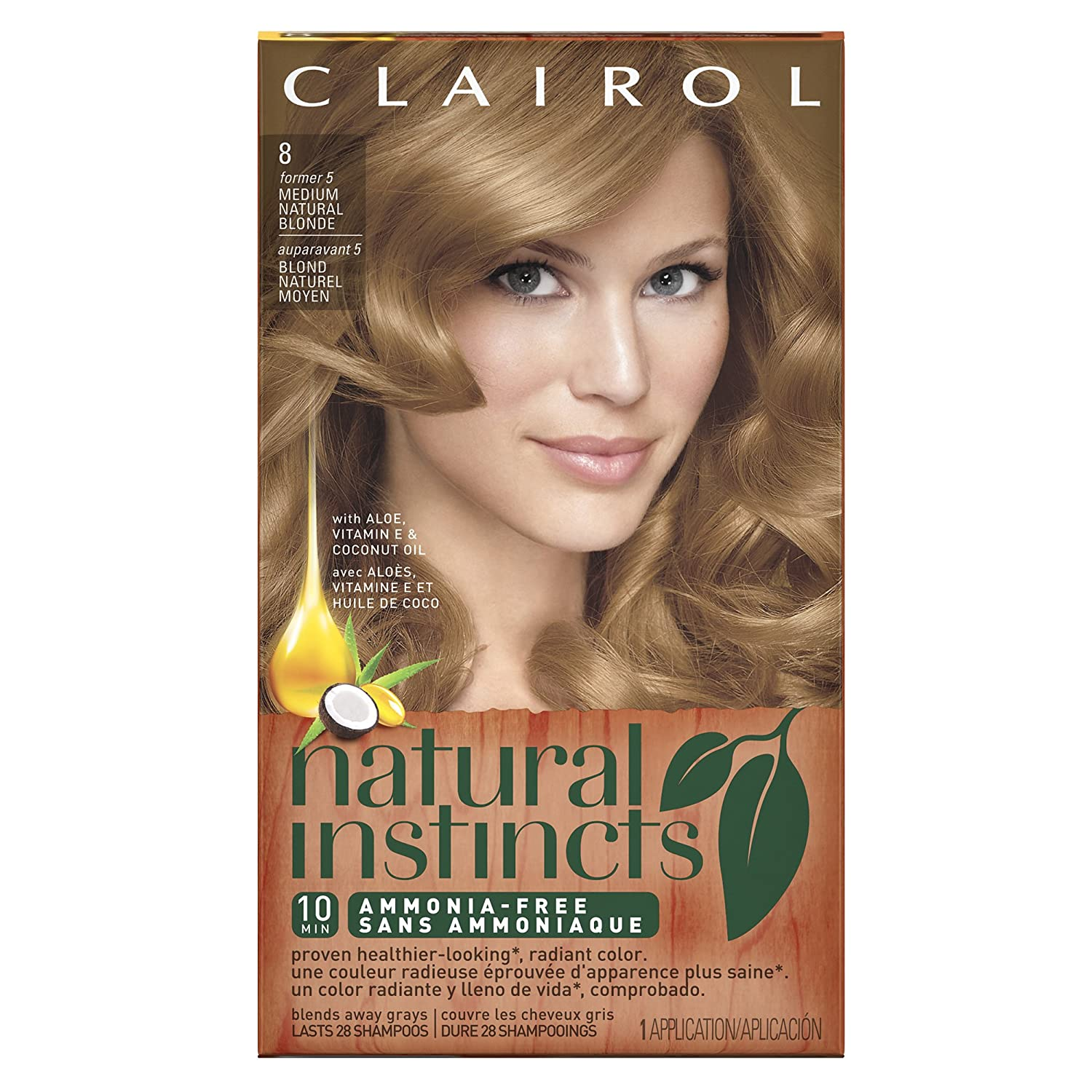 Amazon Clairol Natural Instincts 85 Champagne On Ice Medium