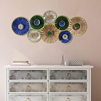 Buy Craftter Small Circle In Large Circle Multi Color Metal Wall Art Decorative Wall Sculpture Handing Home Decor Online At Low Prices In India Amazon In