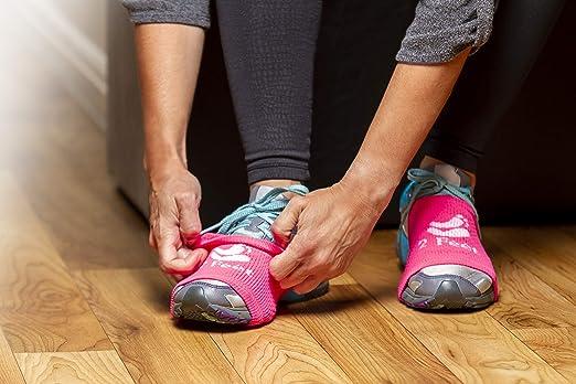 Calcetín de 2 pies para bailar en suelos lisos | sobre zapatillas, pivotes suaves y giros Para bailar con estilo en suelos de madera | Protege las rodillas | 4 pares, cada