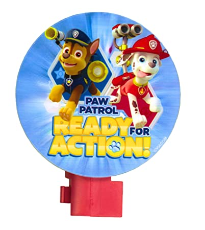 PAW Patrol Night Light Rubble Marshall Skye Chase Ready For Action
