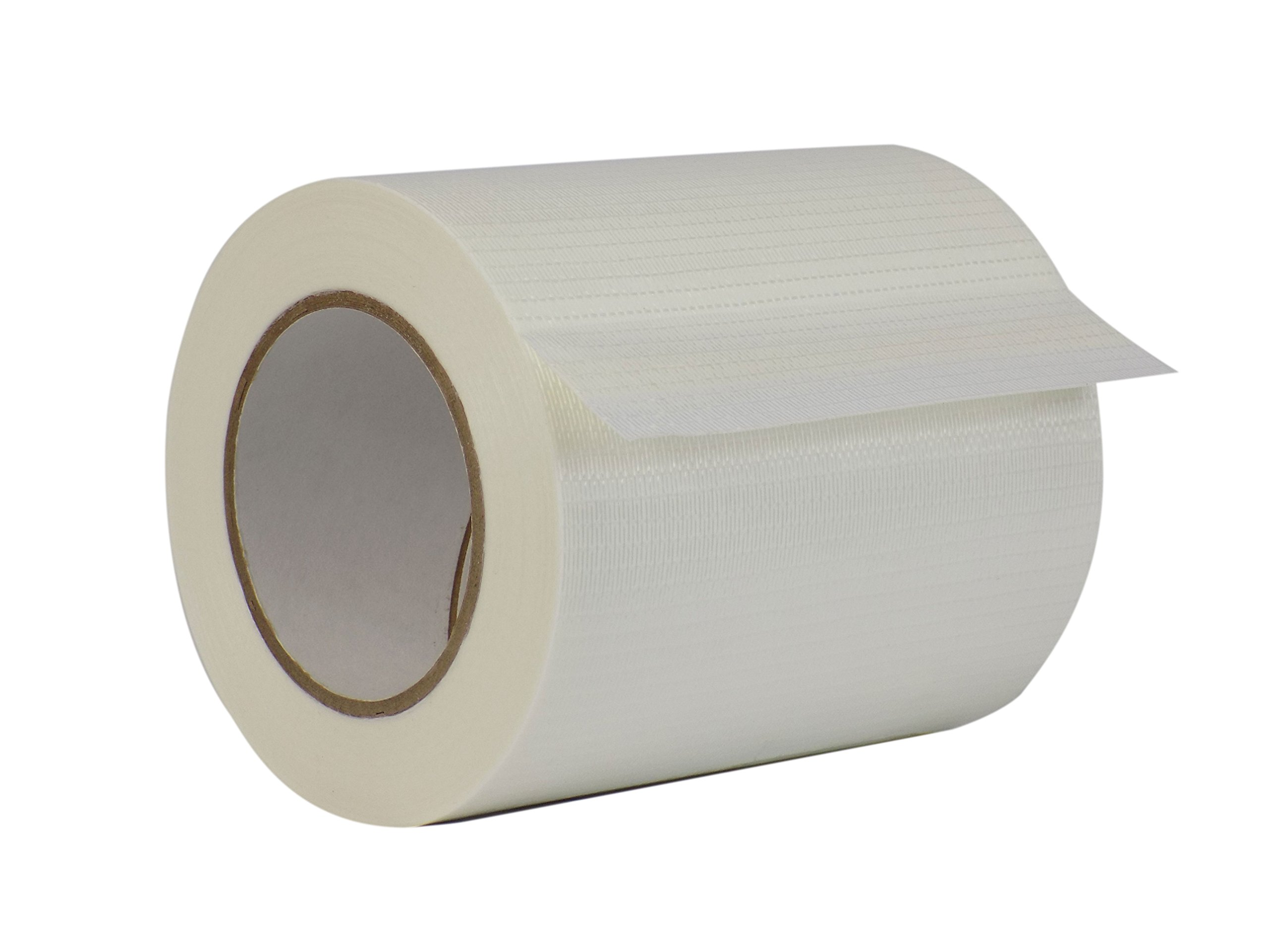 WOD FIL-835B/D Bi-Directional Fiberglass Reinforced Packing Filament Strapping Tape, High Adhesion Level, Tear Resistance, Hexayurt Tape (Available in Multiple Sizes): 6 in. x 60 yds. (Pack of 1)
