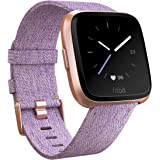 Fitbit フィットビット スマートウォッチ Versaスペシャルエディション 心拍数測定 睡眠 パーソナルコーチ 耐水仕様 Lavender Woven L/Sサイズ【日本正規品】 FB505RGLV-CJK