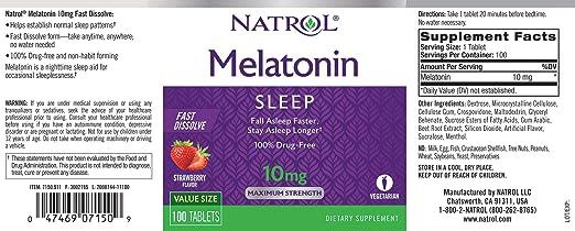 melatonin sleep facts
