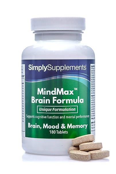 Vitaminas para la Memoria - Con Omega 3 y Ginkgo Biloba - Ayuda a mantener una función cognitiva normal - 180 Comprimidos - Simply Supplements: Amazon.es: ...