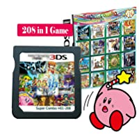 208 in 1 Game Cartridge Multicart,DS Game Pack Card Compilations, Fine Works Combo Multicart for Ninte-ndo DS, NDSL, NDSi, NDSi LL/XL, 3DS, 3DSLL/XL, New 3DS, New 3DS LL/XL, 2DS, New 2DS LL/XL
