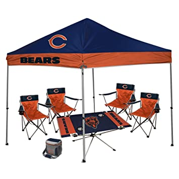 NFL Hall of Fame Tailgate Bundle - Chicago Bears (1 9X9 Canopy 4 Kickoff  sc 1 st  Amazon.com & Amazon.com : NFL Hall of Fame Tailgate Bundle - Chicago Bears (1 ...