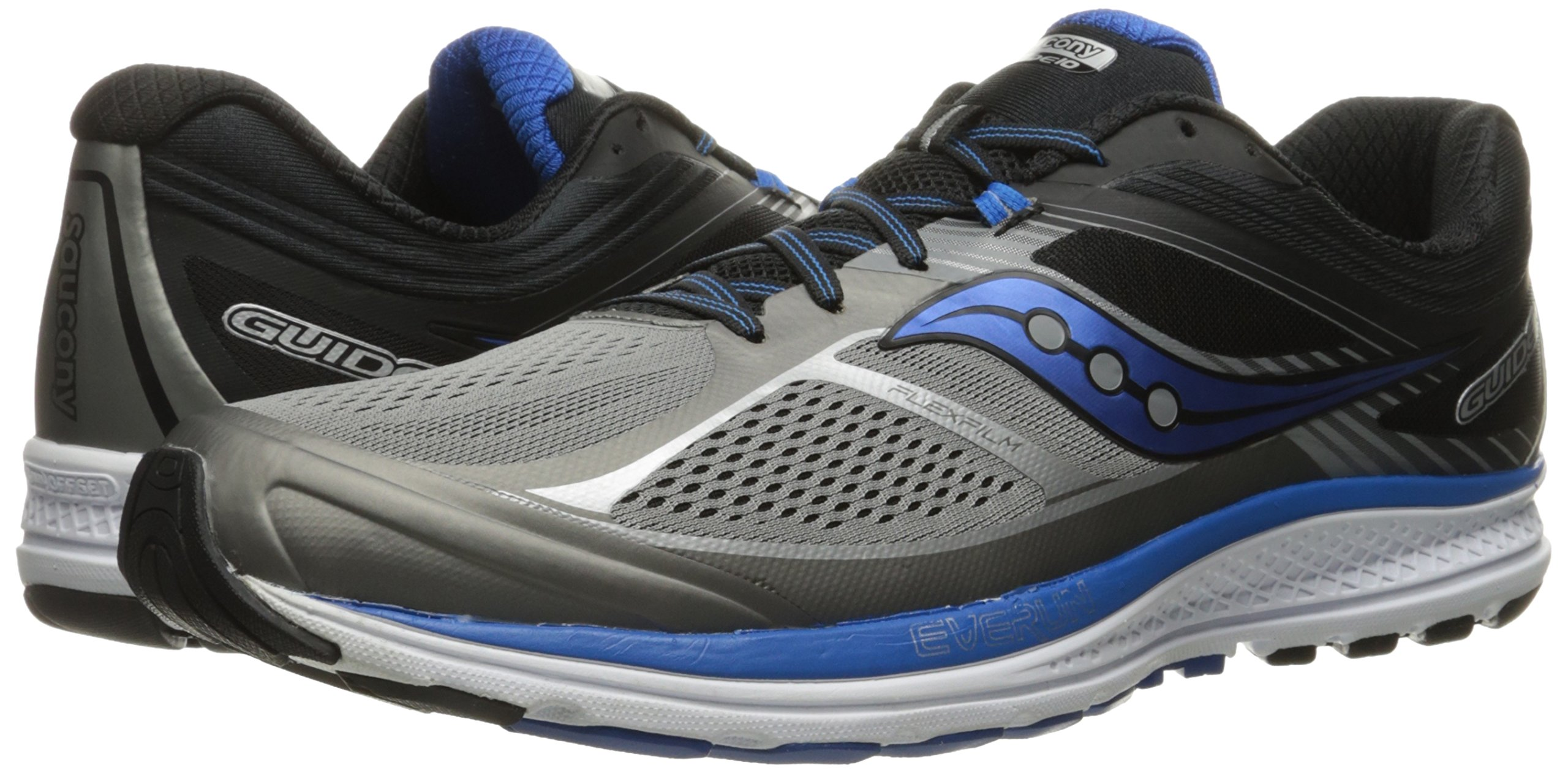 Saucony Men's Guide 10 Running Shoes, Grey Black, 14 D(M) US by Saucony (Image #6)