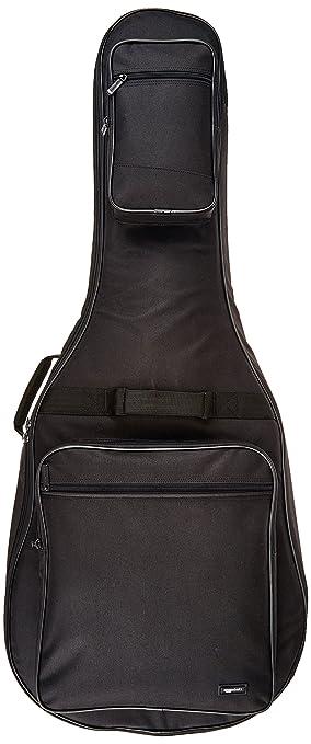 AmazonBasics - Funda para guitarra acústica Dreadnought - Negro: Amazon.es: Instrumentos musicales