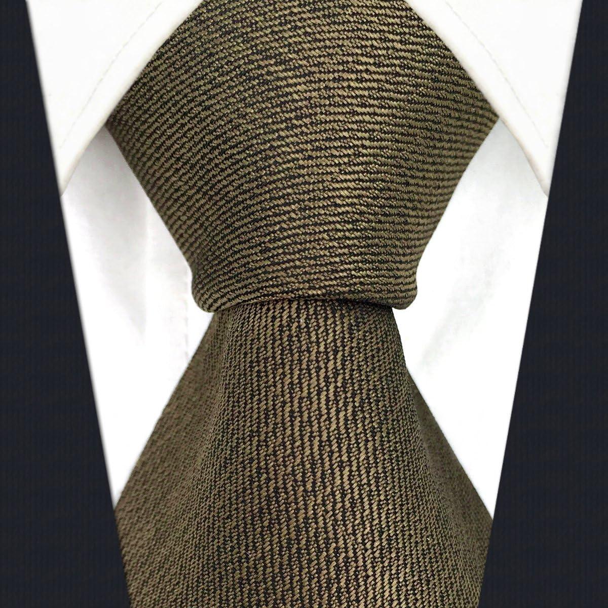 shlax&wing Color Sólido Marrón Chocolate Corbatas Para Hombre ...