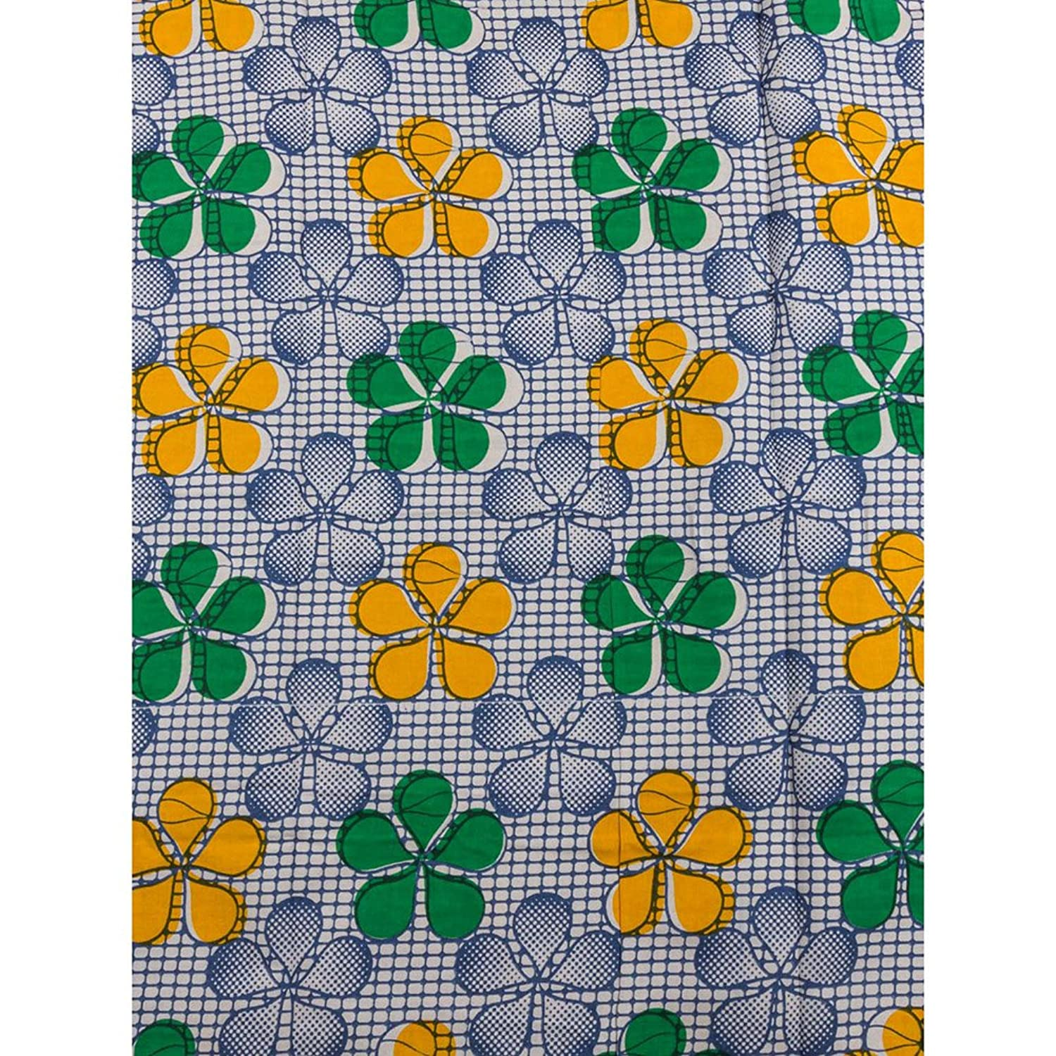 Premier Latest African Print Fabric Colorful Flower Cotton Material rw448004