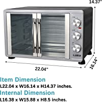 Luby Large Countertop French Door Toaster Oven