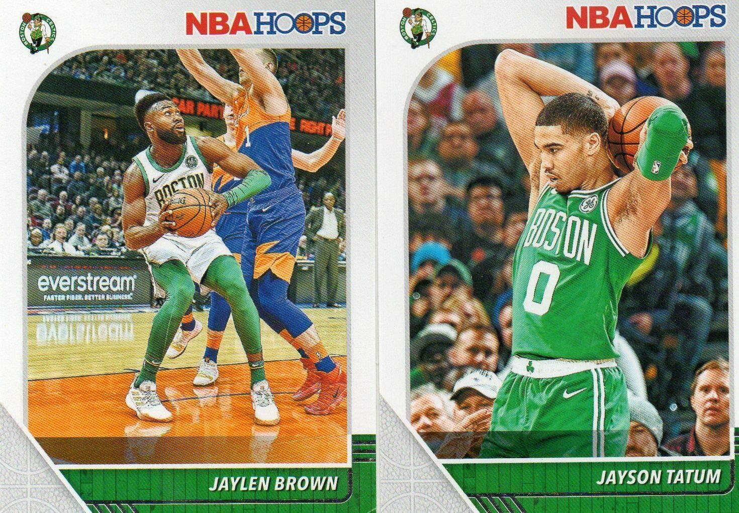 Gordon Hayward and Jayson Tatum Plus Boston Celtics 2019 2020 Hoops Basketball Factory Sealed 10 Card Team Set with Kemba Walker