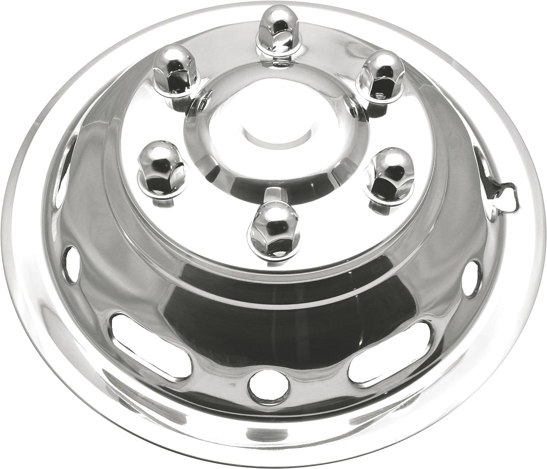 16 6 Lug 12 Hand Hole Push on Kaper II SS-1612-EZN Polished Stainless Steel Sprinter Wheel Simulator Set for Dodge//Mercedes//Freightliner
