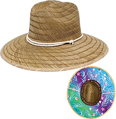 Peter Grimm Natural Straw Molokai Lifeguard Hat - Wide Brim Sunhat ... 63f1f52d44c