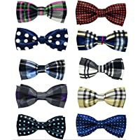 PET SHOW Pet Small Dogs Collar Attachment Bow Ties Puppies Cats Collar Charms Accessories Slides Bowties for Birthday Wedding Parties