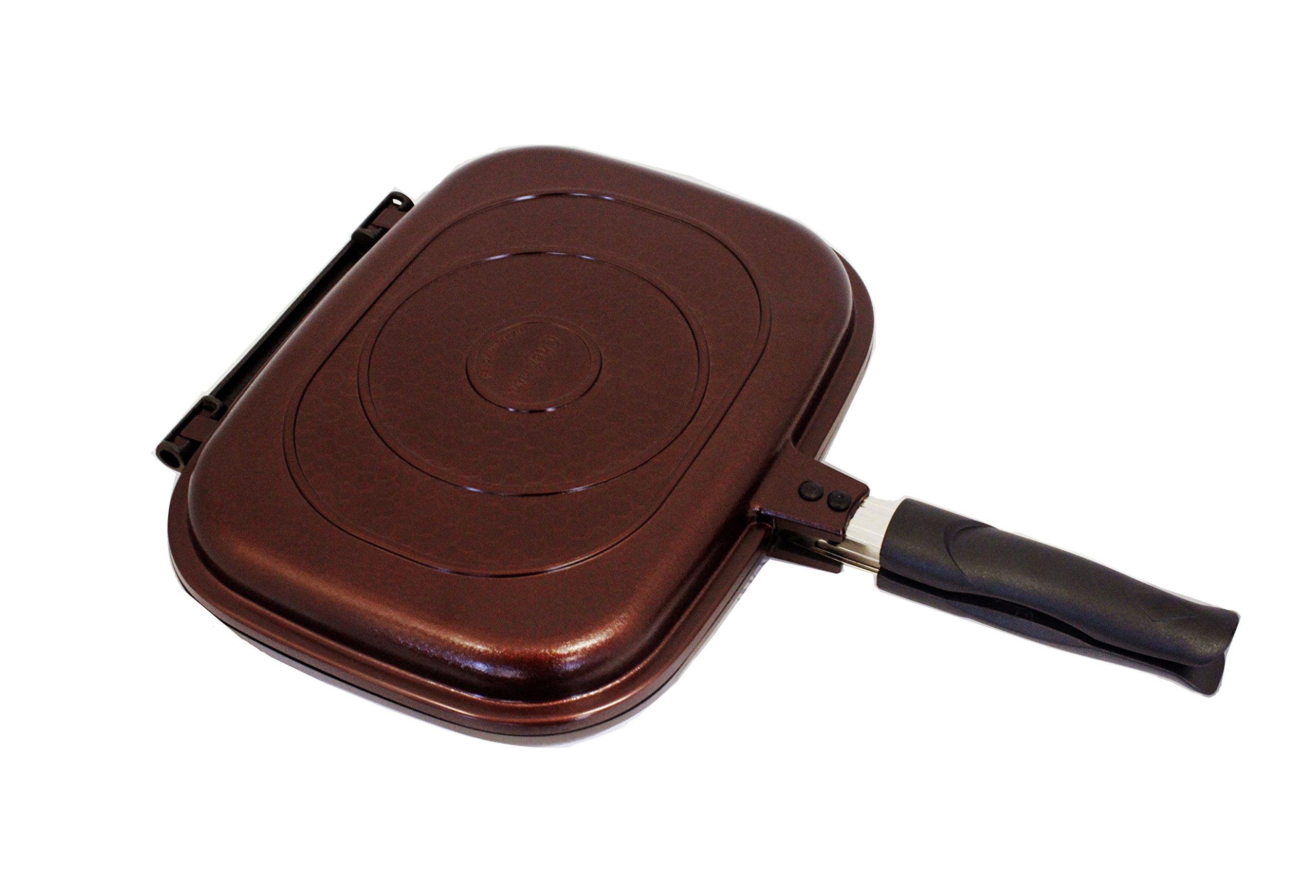 Chefrun Double Two sided Pan- Non stick, Smoke free grill pan