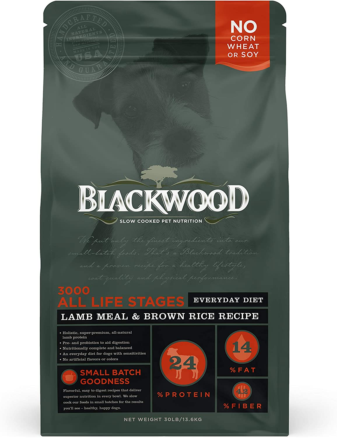 Blackwood Dog Food Everyday Diet Made in USA [Slow Cooked Dry Dog Food For All Breeds and Sizes], Resealable Bag