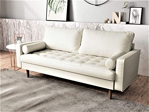 Container-Furniture-Direct-Orion-Mid-Century-Modern-Faux-Leather-Upholstered-Sofa-Loveseat-Set-with-Bolster-Pillows
