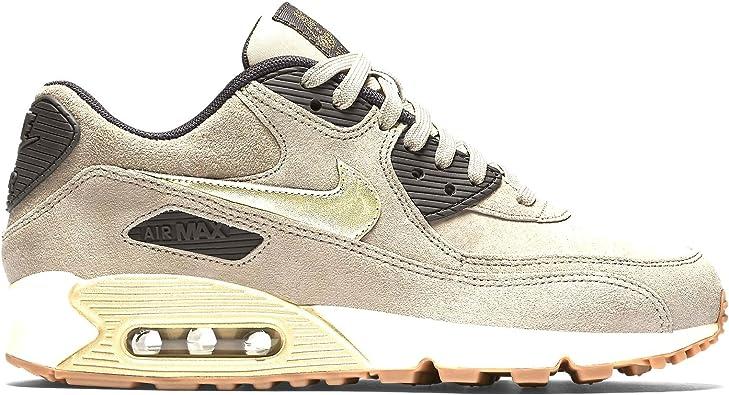 Nike mujeres Air Max 90 PRM Suede Running Shoe, Beige, 9 B(M) US