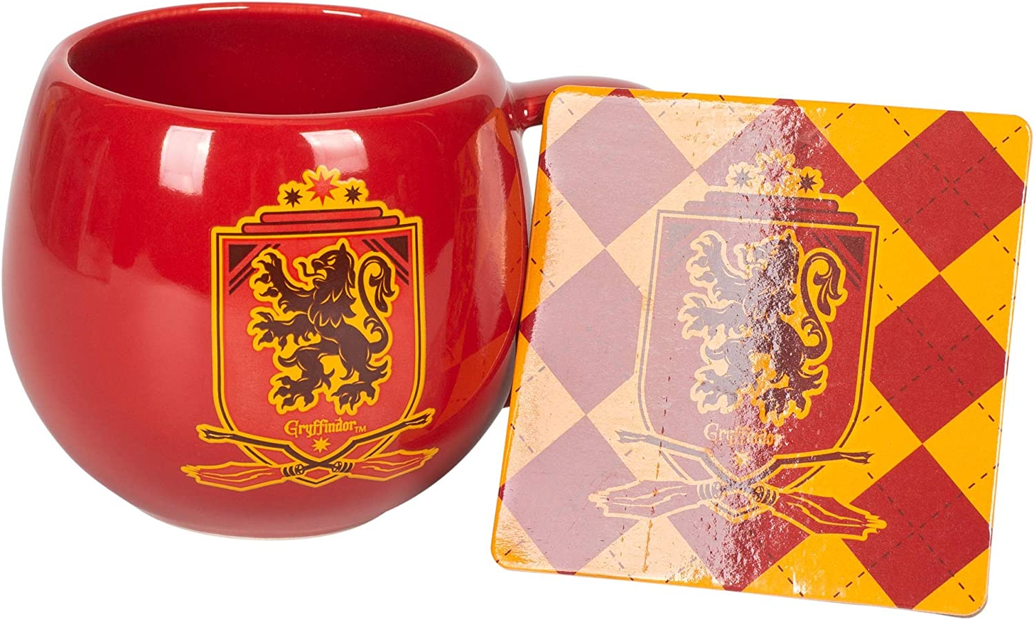 HARRY POTTER CUP CERAMIC TRAVEL COFFEE MUG THE GRYFFINDOR HOUSE CREST