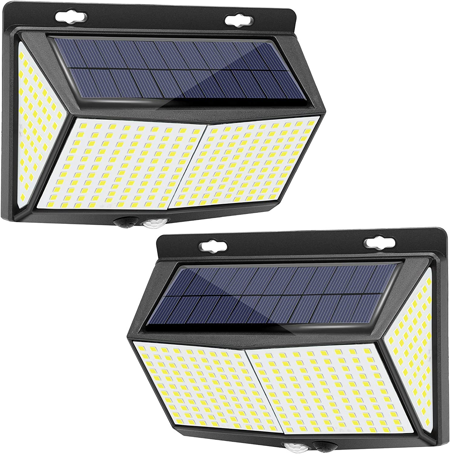 Amazon Com 288 Led Solar Lights Outdoor 2 Packs Exterior Solar Powered Lights Security Motion Sensor Lights With 3 Lighting Modes 270 Wide Angle Ip65 Waterproof Wireless For Outside Wall Fence Yard Garage Home Improvement