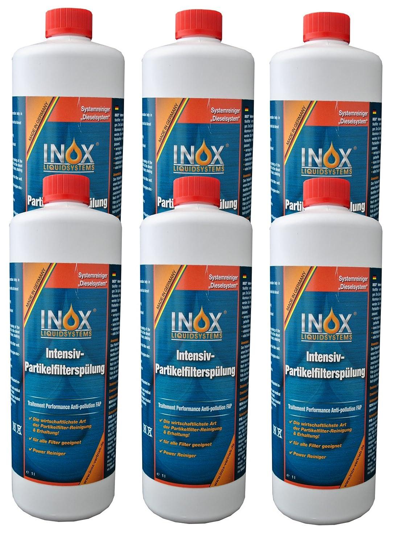 INOX Intensiv Partikelfilter-Spü lung, 6x 1L - Additiv fü r Dieselsysteme mit Partikelfilter